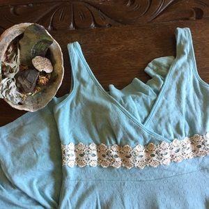 Vtg Free People Cotton Knit Dress // M